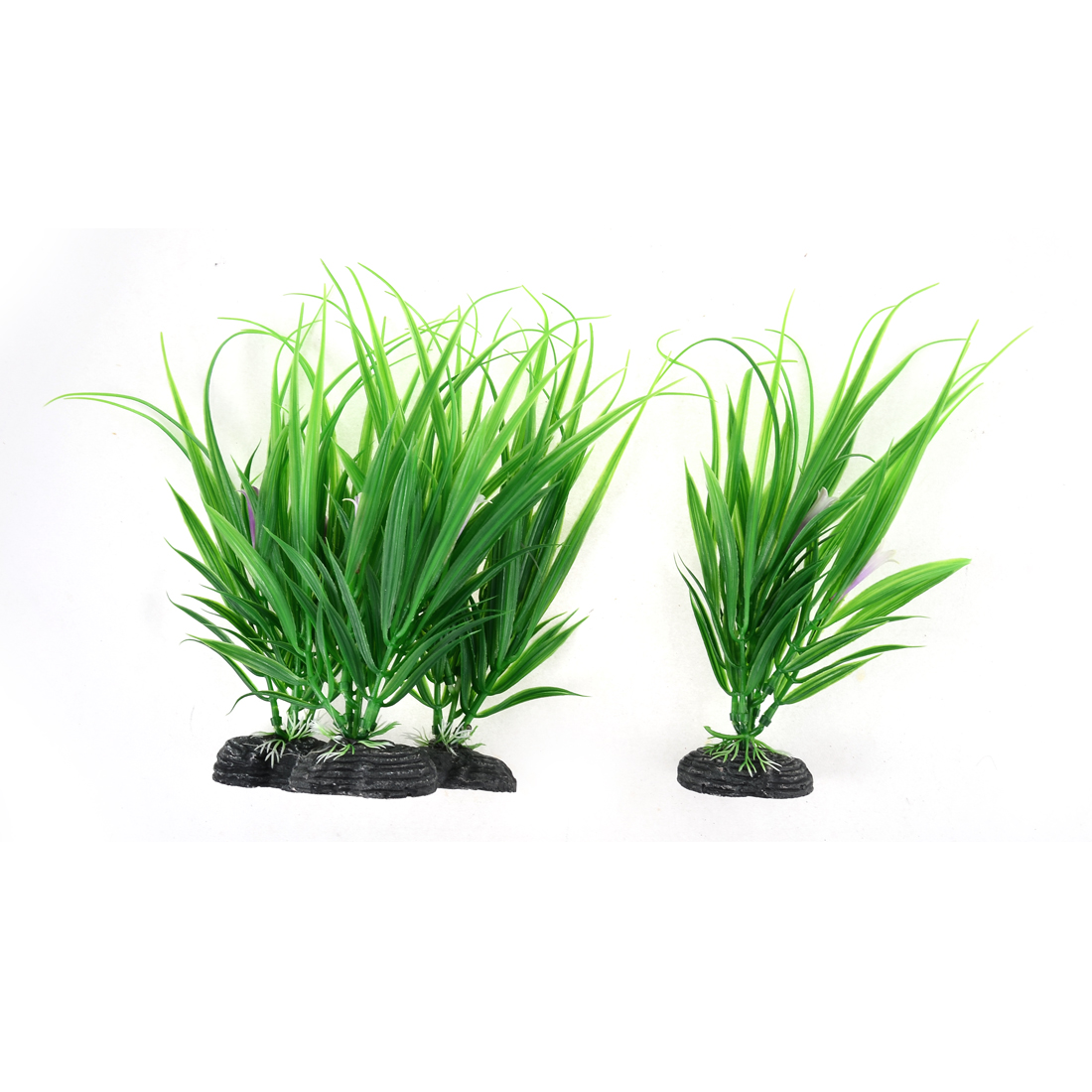 Aquarium Fish Tank Landscaping Artificial Plastic Aquatic Plants Green 20cm 4pcs