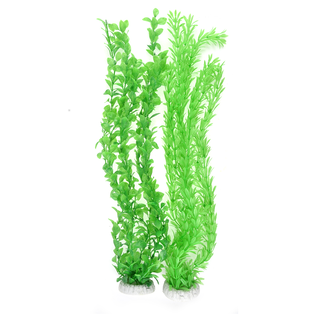 Aquarium Decor Plastic Fish Tank Long Artificial Aquatic Plants 45cm High Green 2pcs