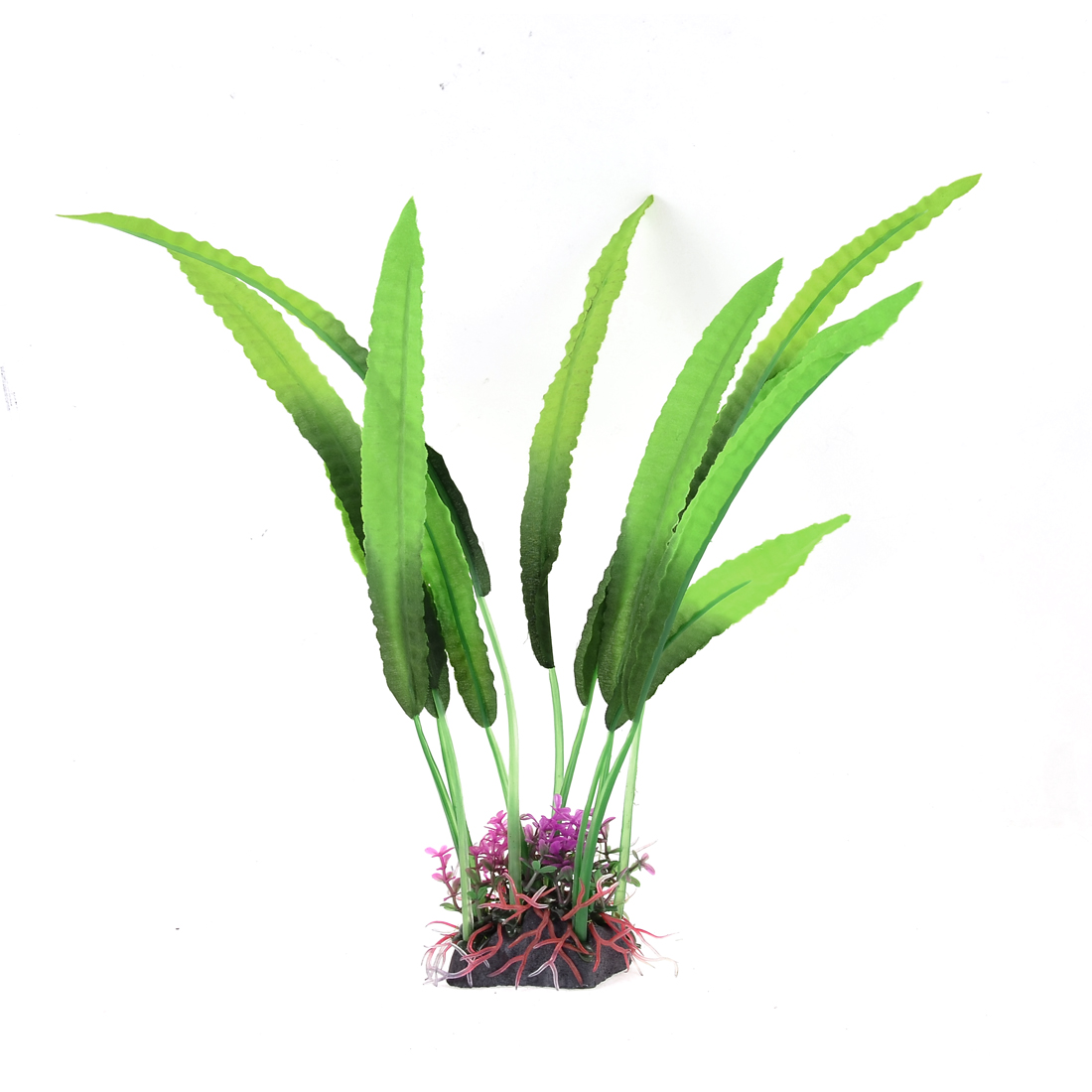 Aquarium Tank Plastic Artificial Underwater Landscape Long Leaves Plant Green 30cm High