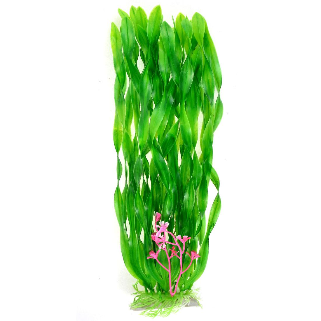 Aquarium Fish Bowl Plastic Artificial Plant Ornament Adornment Green