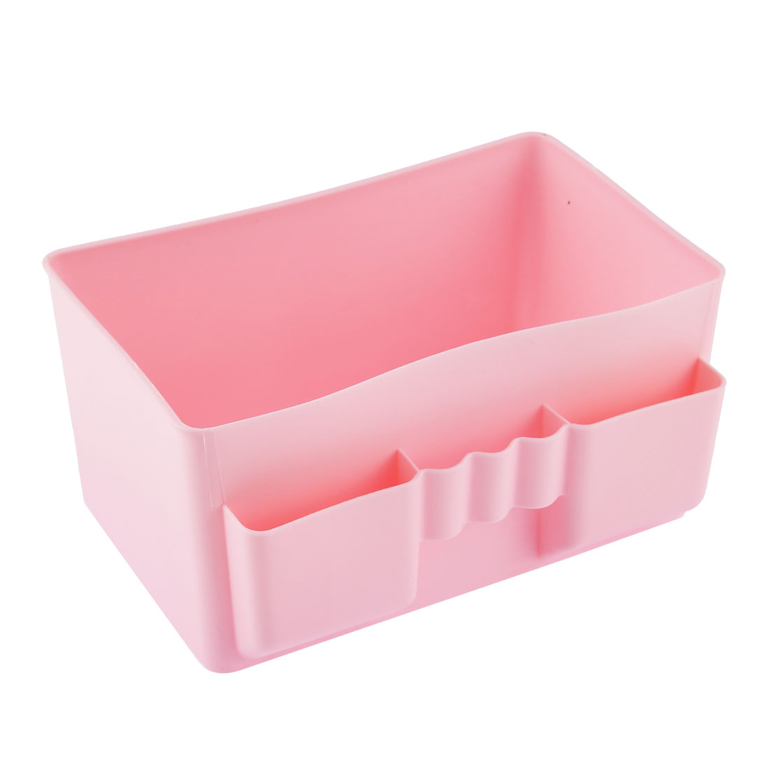 Office Table Desktop Plastic Storage Case Organizer Drawer Divider Box Pink