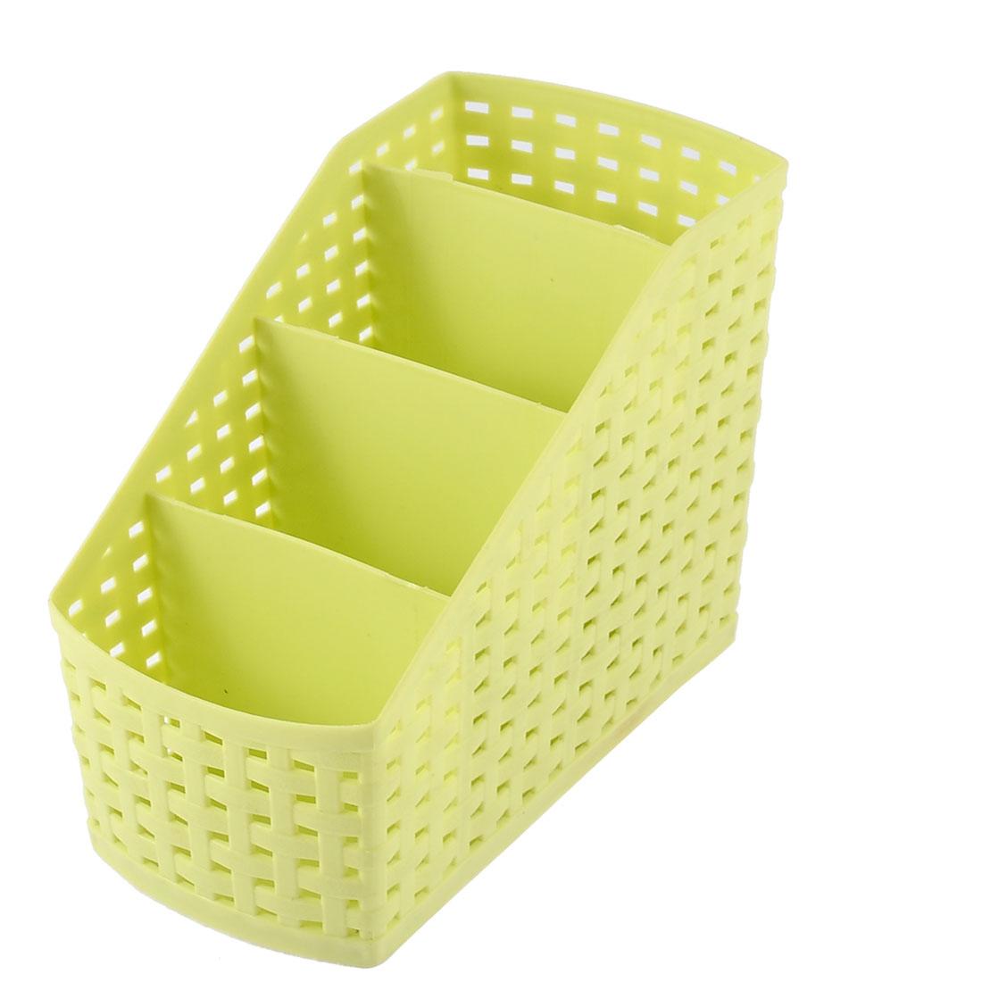 Bathroom Makeup Desktop Plastic 4 Grids Storage Organizer Divider Box Green