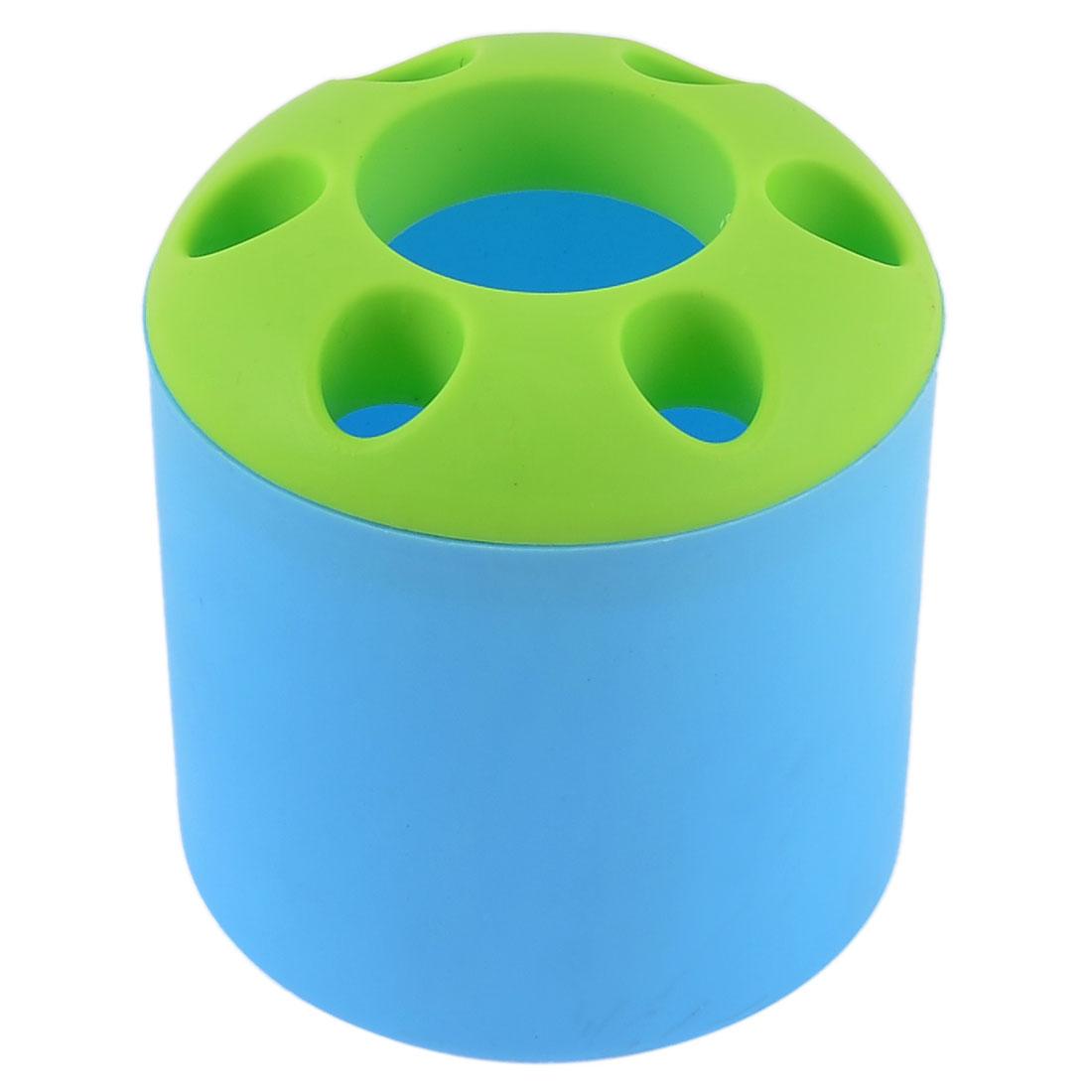 Bathroom Toothbrush Toothpaste Plastic Storage Organizer Holder Cup Blue