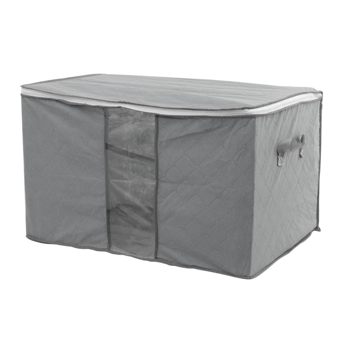 Home Bedding Quilt Blanket Pillow Dustproof Storage Bag Organizer Gray