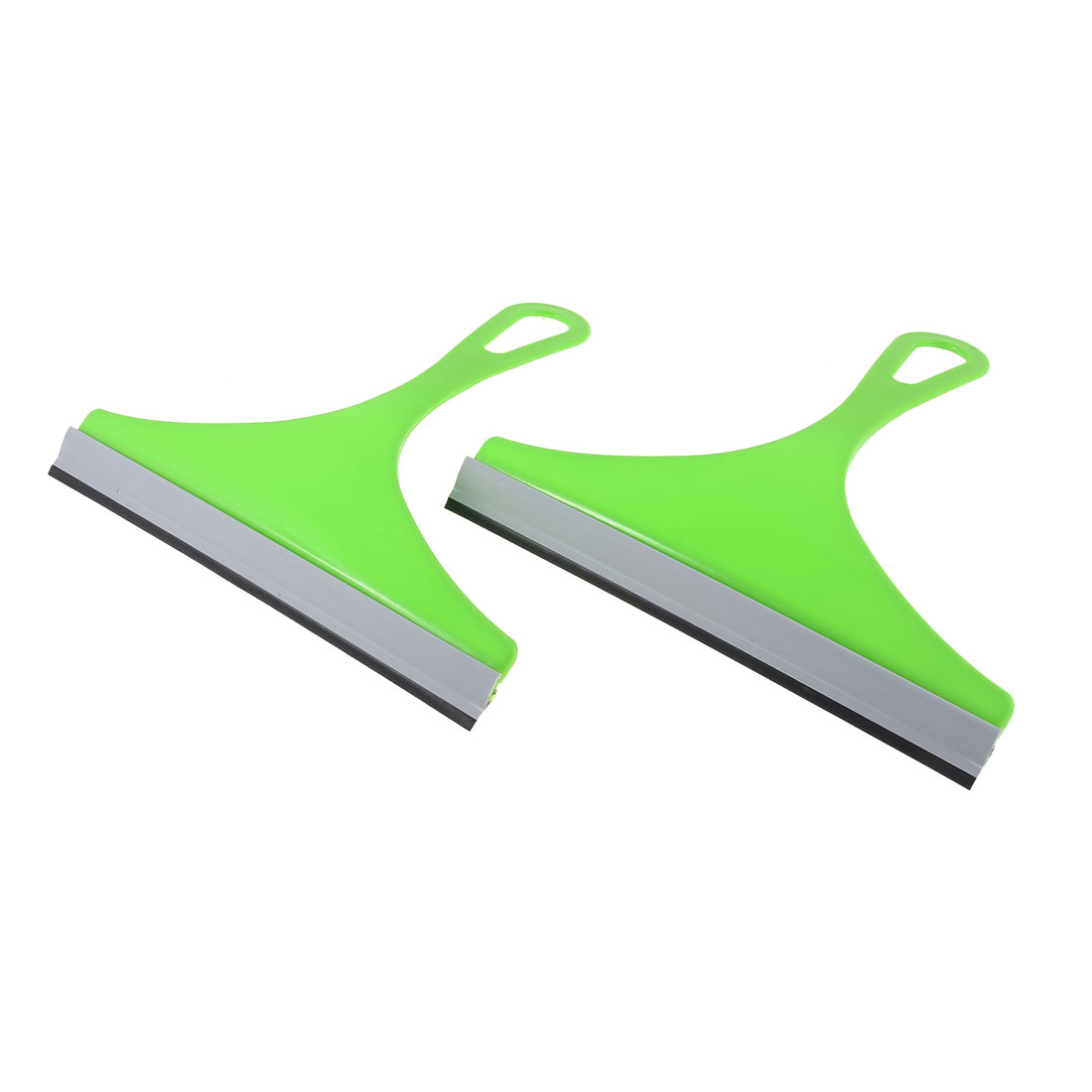 Kitchen Car Auto Window Glass Mirror Brush Scraper Wiper Squeegee Green 2pcs