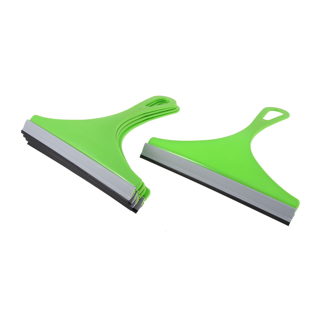 Bathroom Car Auto Window Glass Mirror Brush Cleaner Wiper Squeegee Green 5pcs