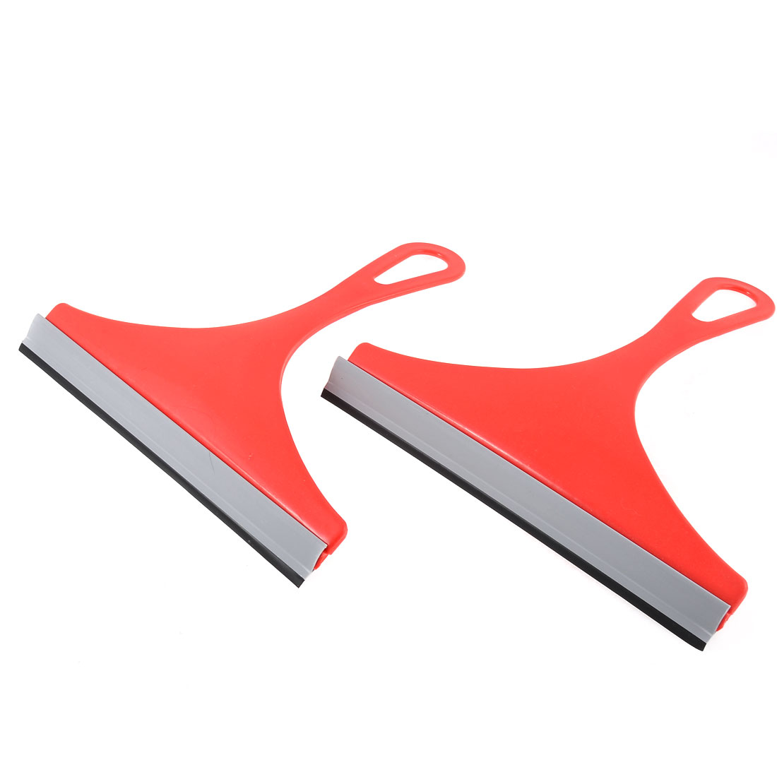 Car Vehicle Window Glass Mirror Brush Cleaner Scraper Wiper Squeegee Red 2pcs
