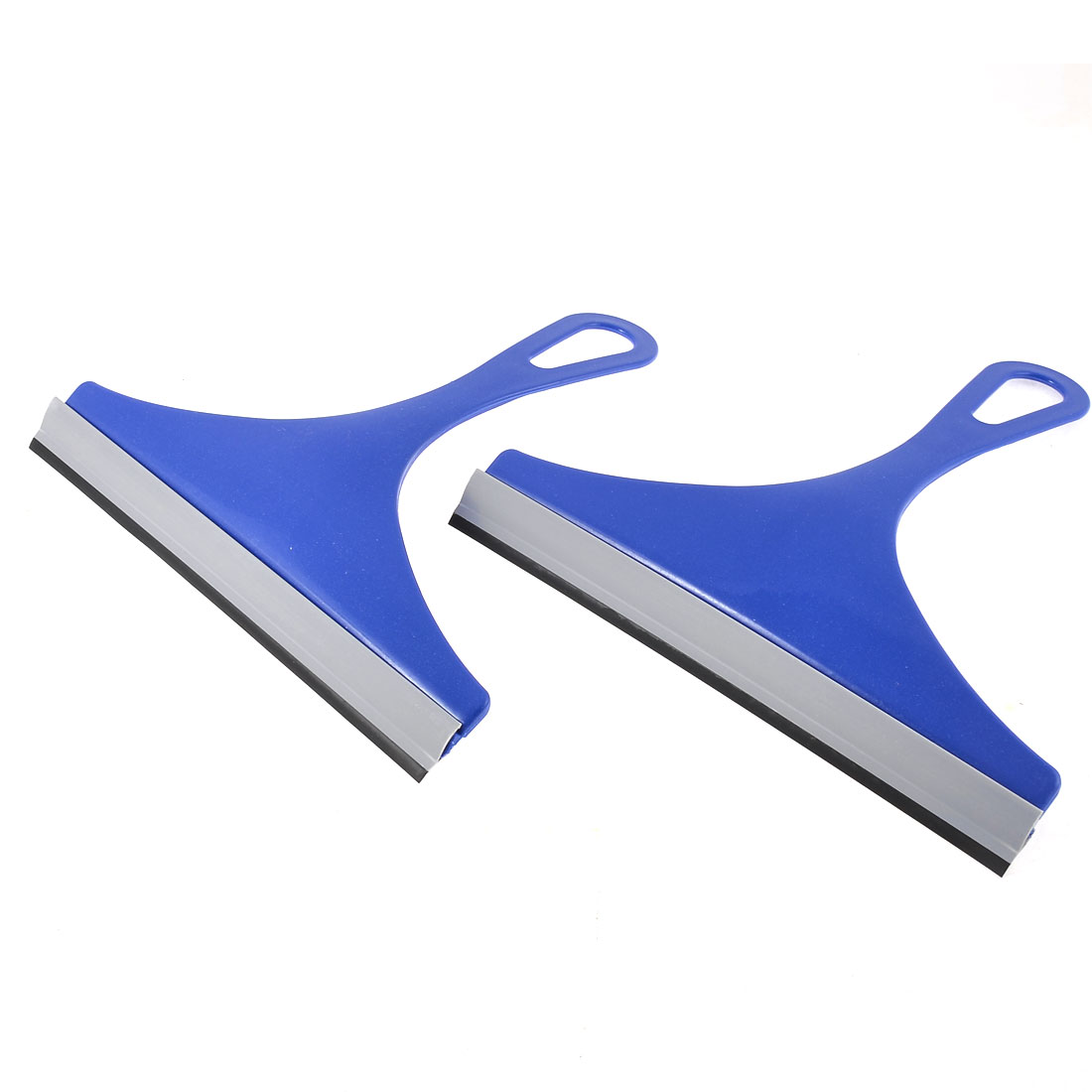 Kitchen Home Window Glass Mirror Brush Sraper Wiper Squeegee Blue 2pcs
