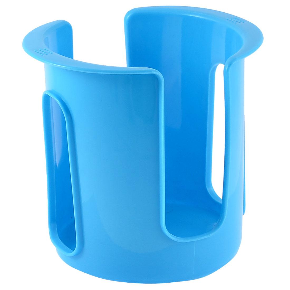 Kitchen Dish Bowl Plate Plastic Storage Organizer Drainer Holder Rack Blue