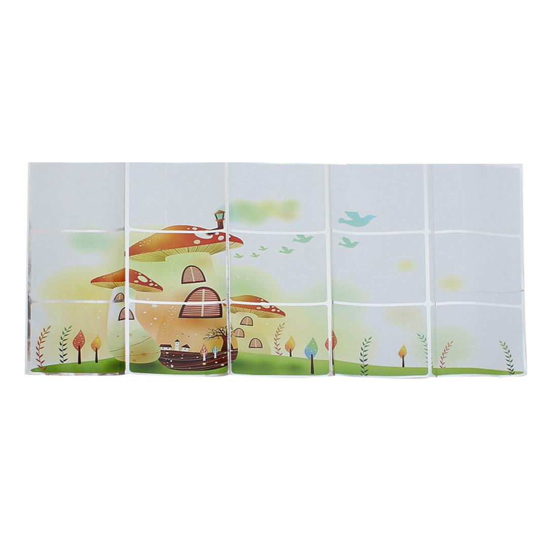 Mushroom Pattern Self-adhesive Kitchen Room Decor Wall Sticker Decal