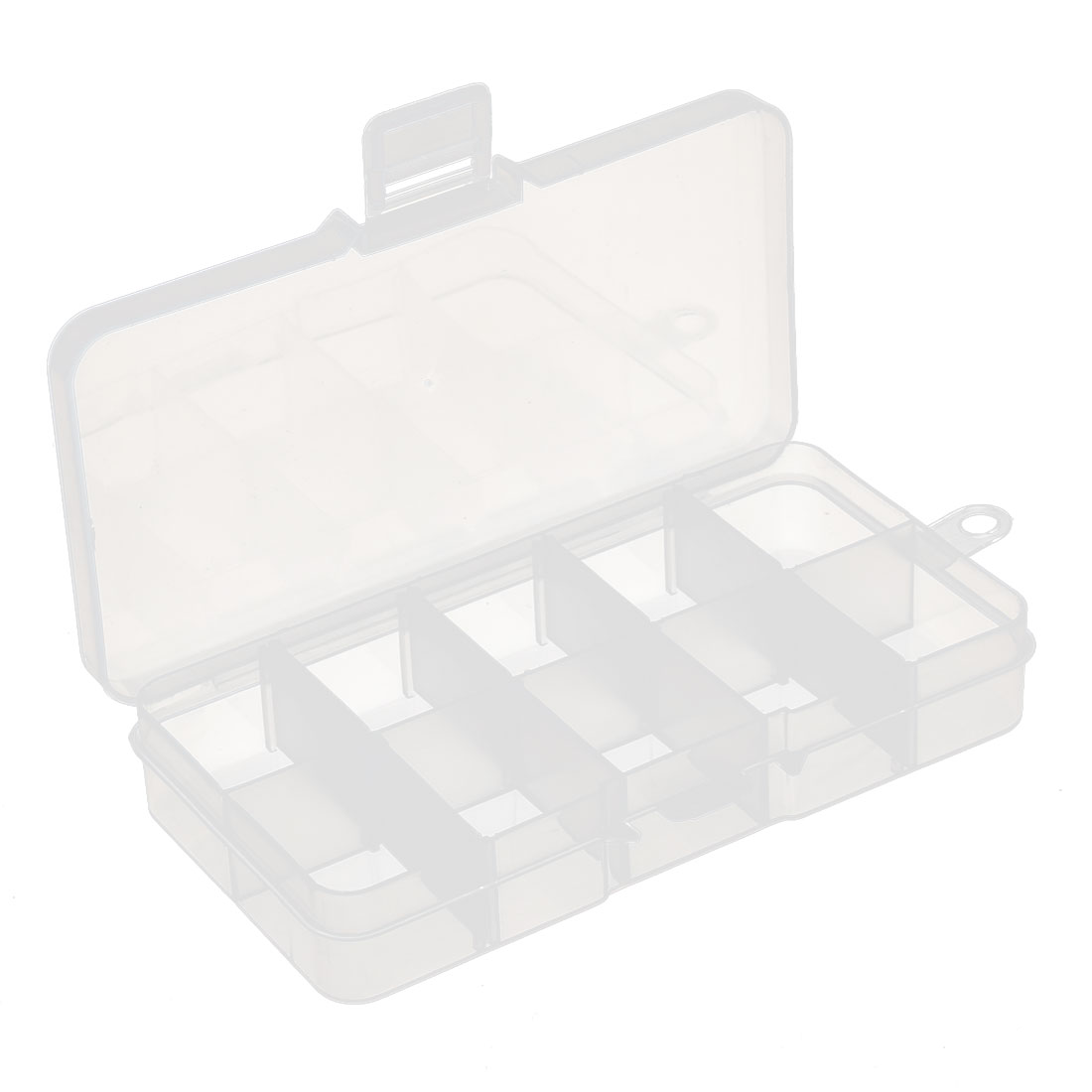 Jewelry Bead Pill Collection Plastic Adjustable Storage Divider Case Box Clear
