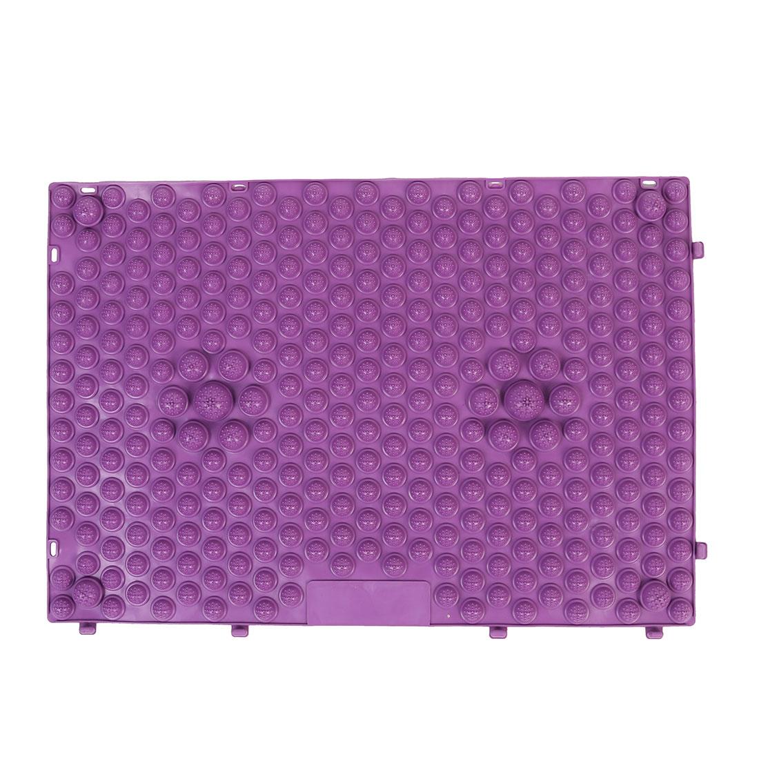Outdoor Leisure Game Rubber Acupuncture Foot Massage Mat Shiatsu Sheet Purple