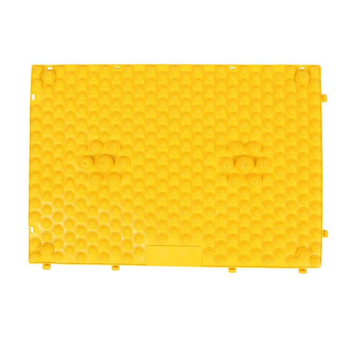 Outdoor Leisure Game Rubber Acupuncture Foot Massage Mat Shiatsu Sheet Yellow