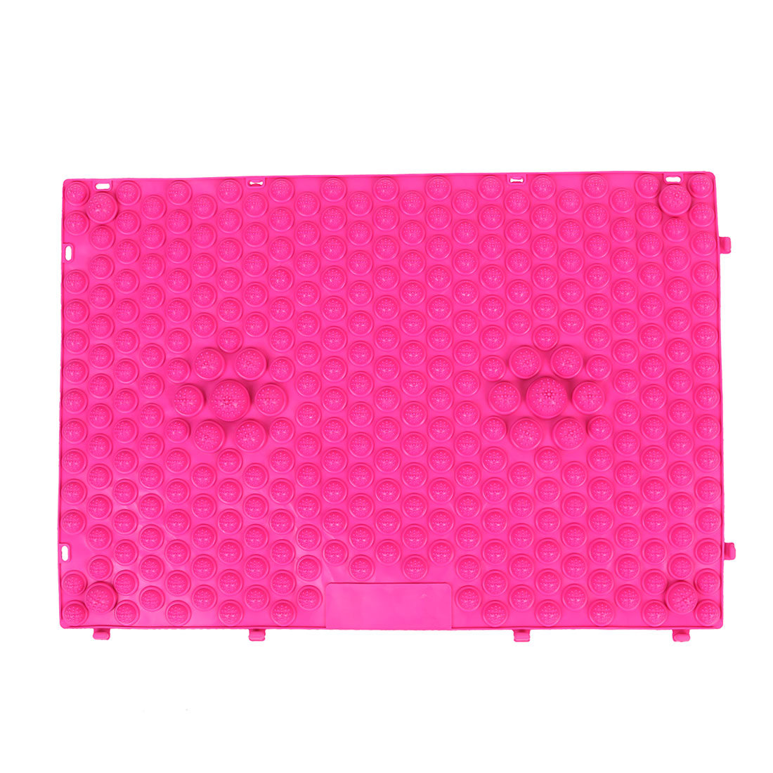 Outdoor Leisure Game Rubber Foot Massage Mat Shiatsu Sheet Fuchsia