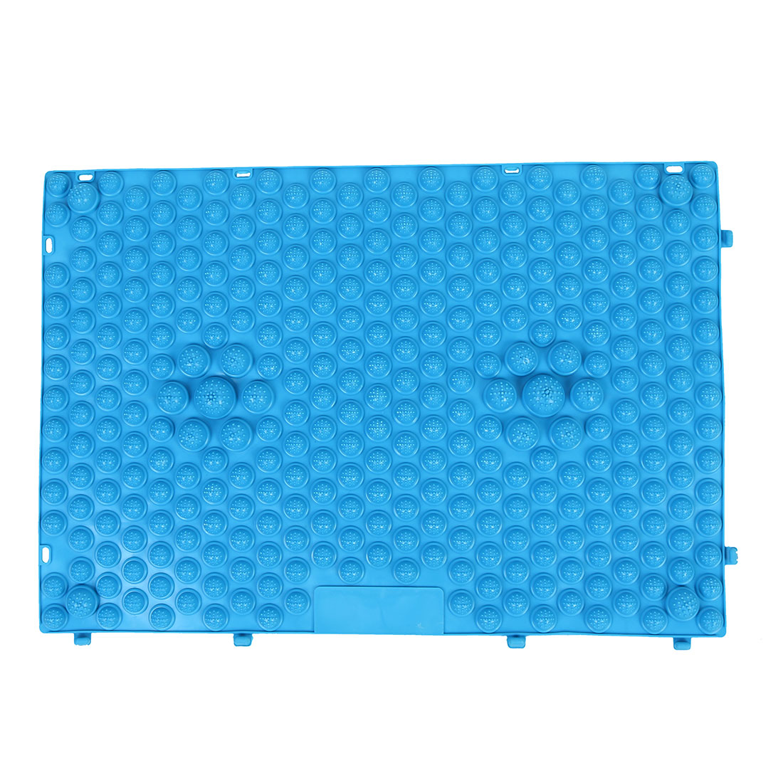 Outdoor Leisure Game Rubber Acupuncture Foot Massage Mat Shiatsu Sheet Blue