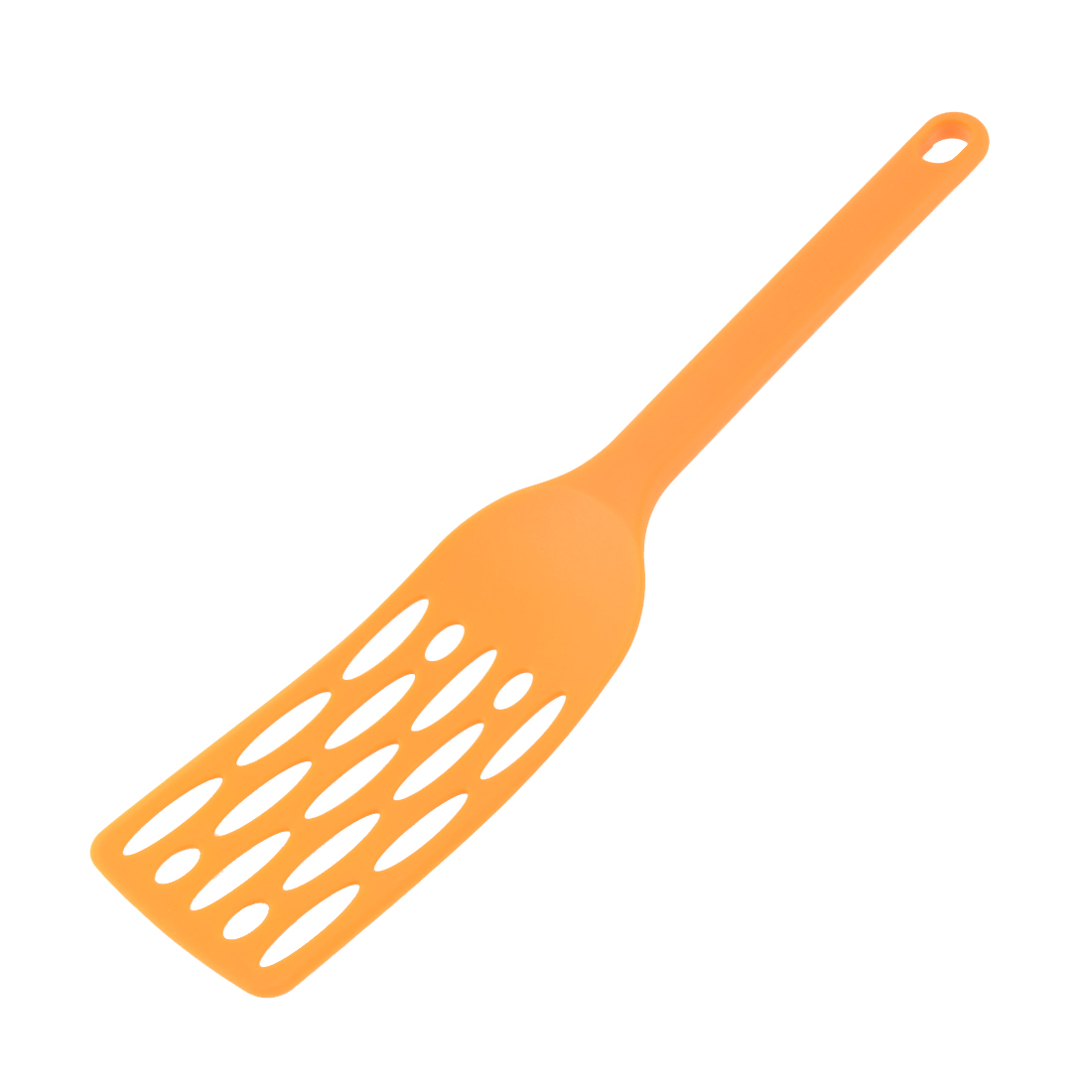 Kitchenware Cooking Plastic Stir Slotted Spatula Orange 31cm Length