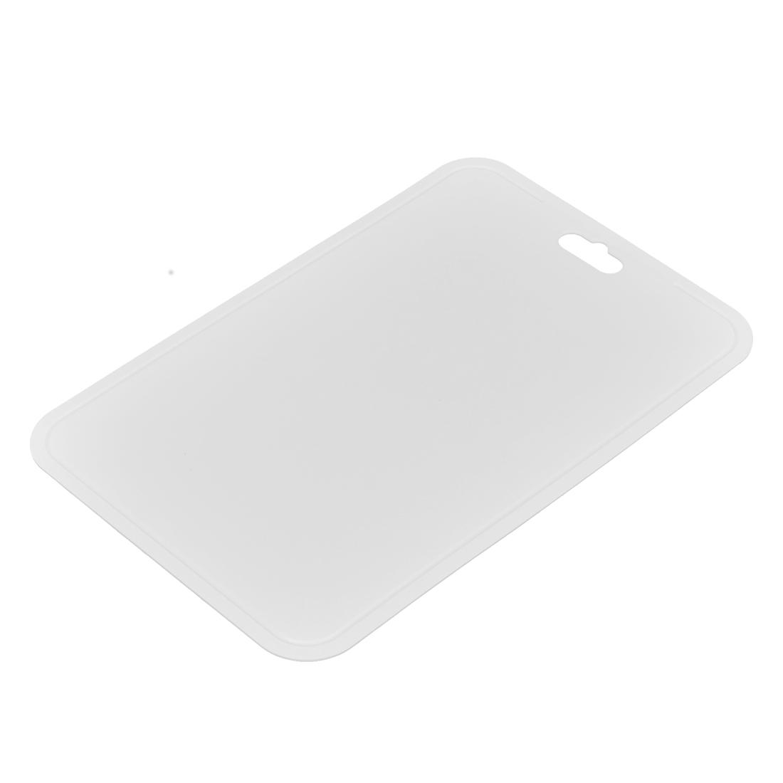 Kitchen Thin PE Flexible Cutting Mat White Chopping Board 210 x 325mm