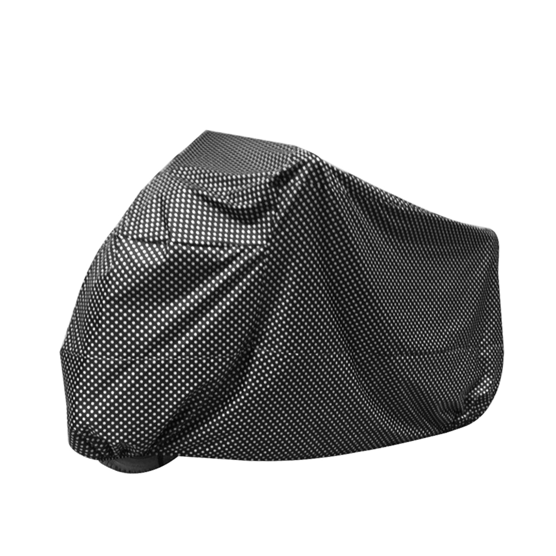 XXL 180T Rain Dust Motorcycle Cover Black Dotted Outdoor Waterproof UV Protector