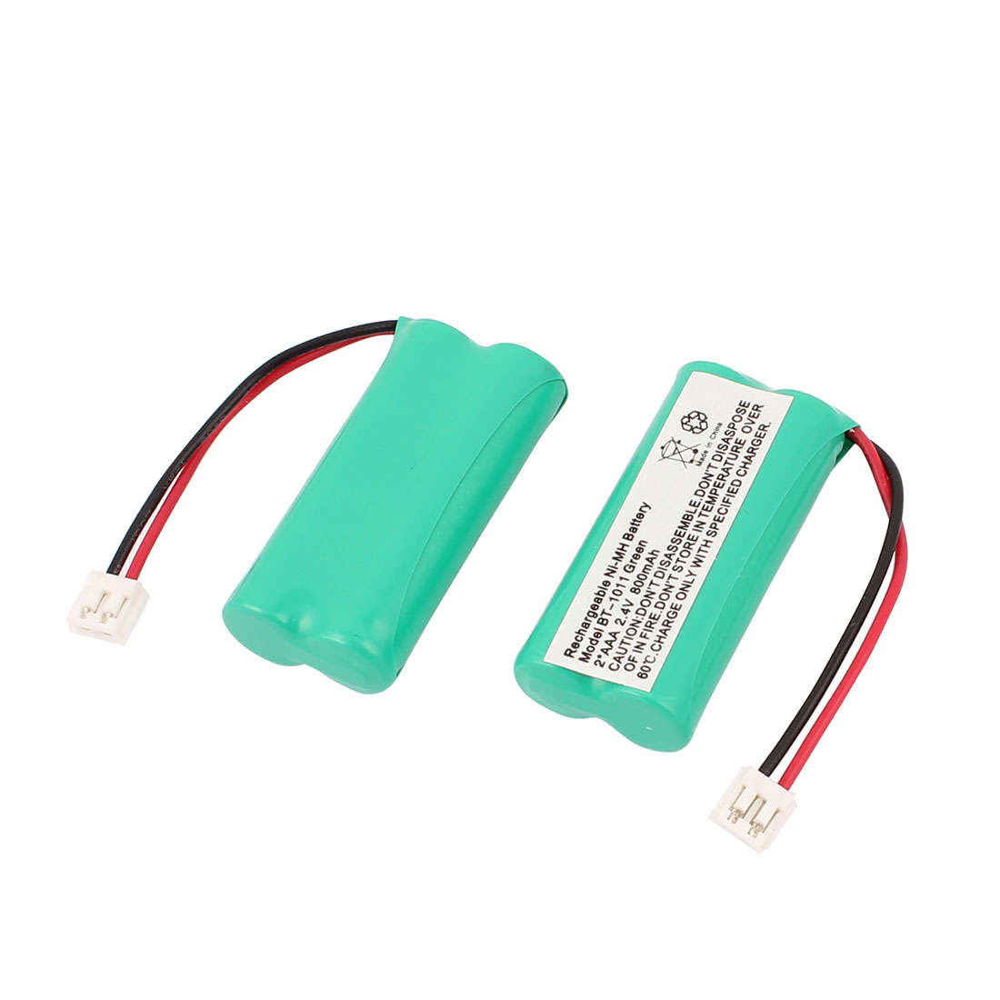 2PCS BT-1011 800mAh 2.4V Rechargeable Ni-MH Battery for Wireless Cordless Telephone