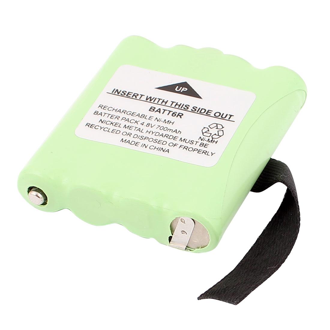 BATT6R 700mAh 4.8V Rechargeable Ni-MH Battery Green for Cordless Walkie Talkie