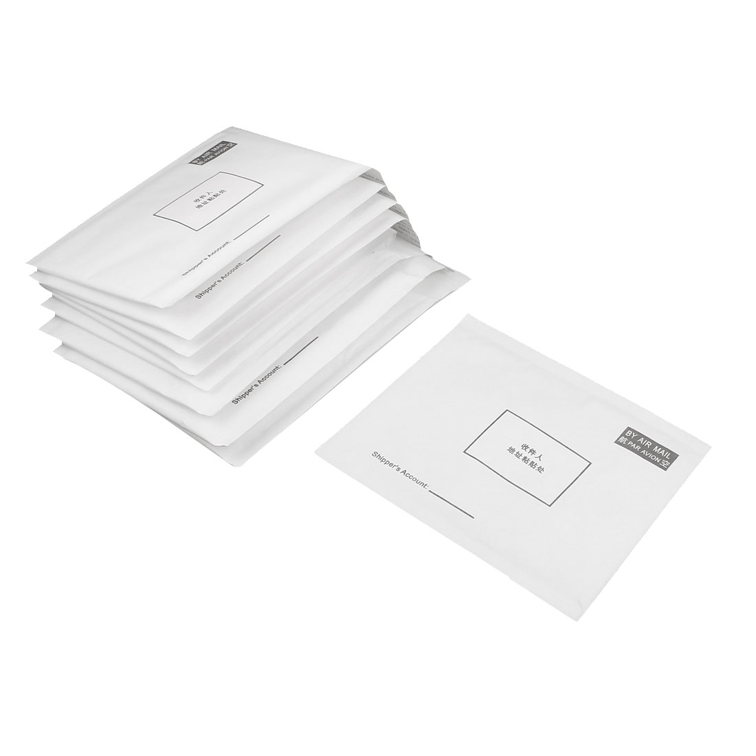 10 Pcs White Paper Rectangle Shaped Letter Envelopes 18 x 15cm