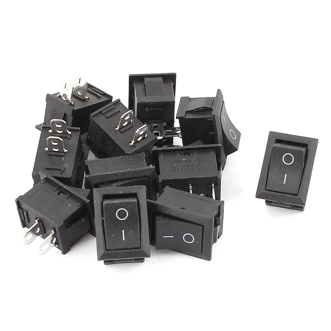 11 Pcs Two Position On-Off SPST Boat Rocker Switch AC 250V/6A 125V/10A