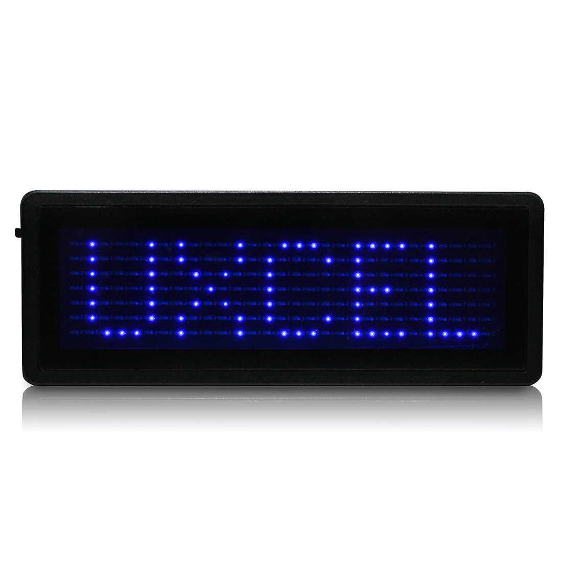 LED Badge Digital Scrolling Message Sign Card Label Portable Name Tag Display Blue