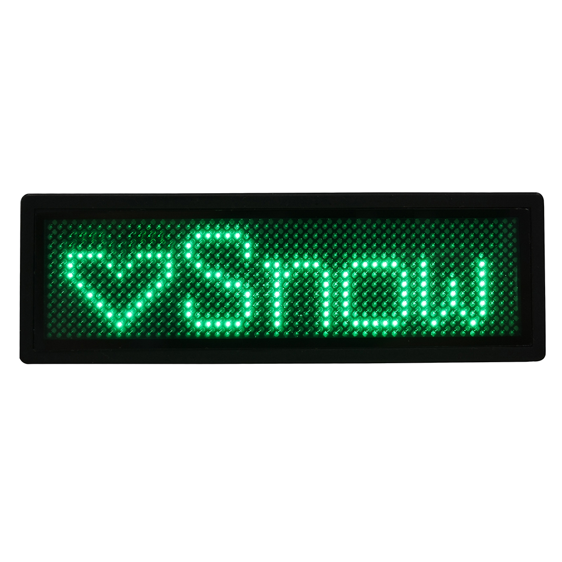 LED Badge Digital Scrolling Message Name Sign Display Portable Rechargeable US plug Green