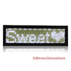 LED Badge Digital Scrolling Message Name Tag Display Portable Rechargeable UK plug White