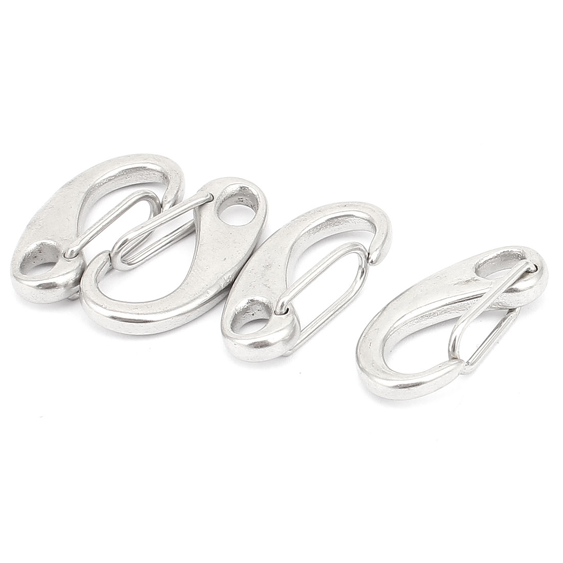 Stainless steel egg Quick Link Carabiner Snap Hook Clip 30mm Lenght 4pcs