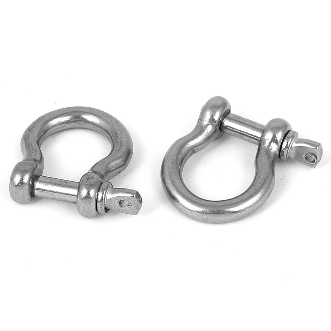 4mm Thread Screw Pin Anchor Shackles Wire Rope Bow Shackle 2PCS