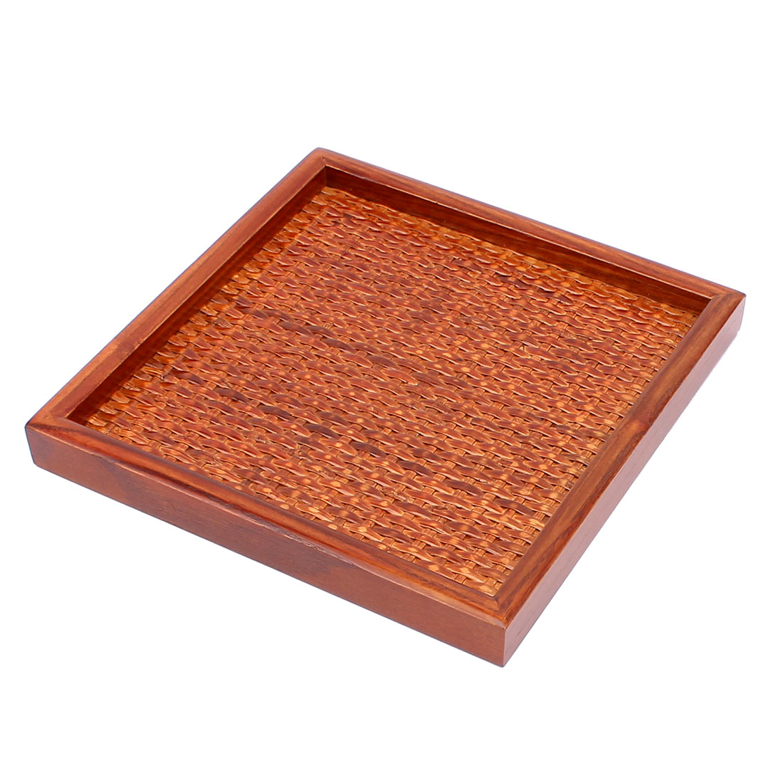Restaurant Kitchen Wood Bamboo Wave Design Food Serving Tray Platter Brown
