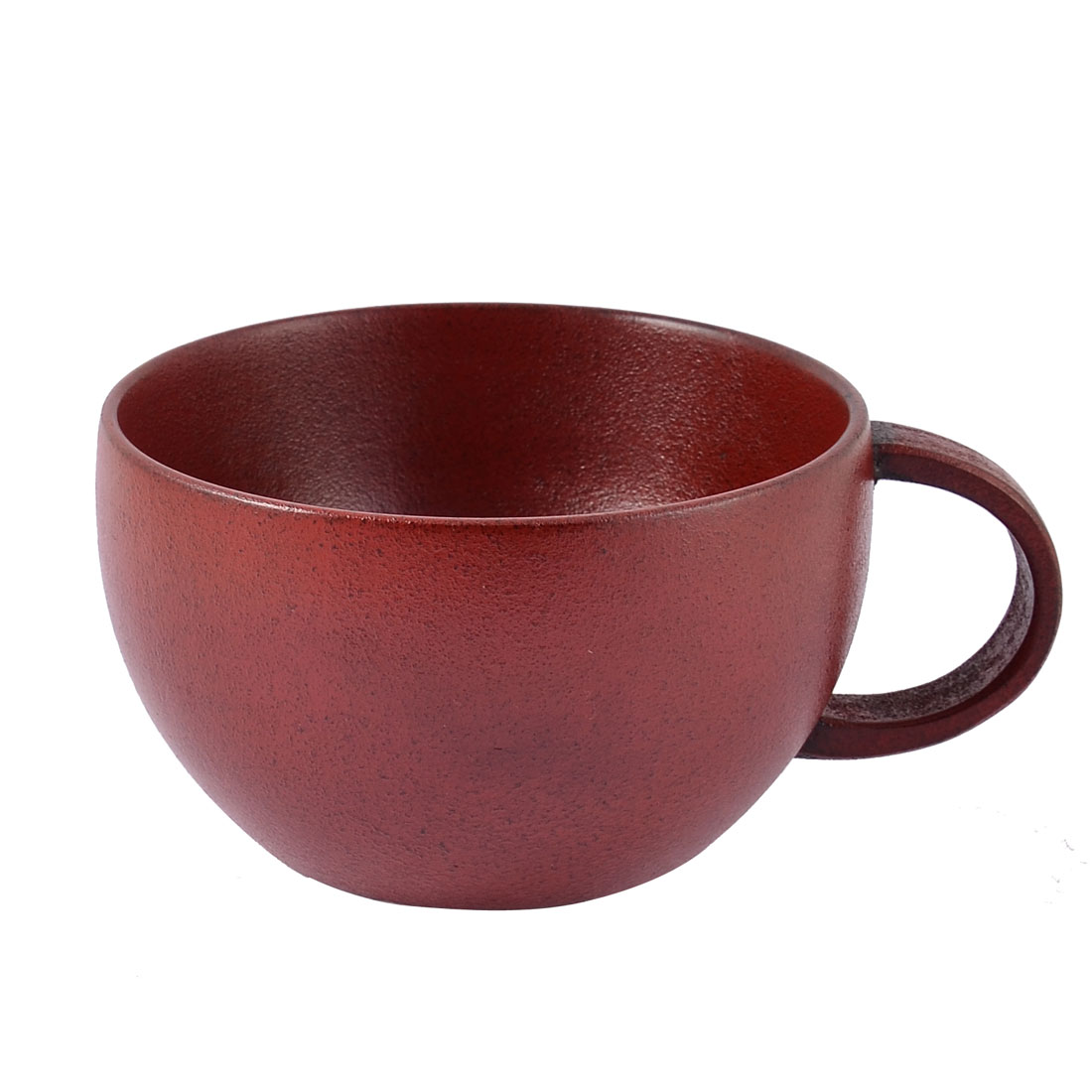 Home Restaurant Wooden Natural Portable Hand Shank Water Coffee Cup Mug Red