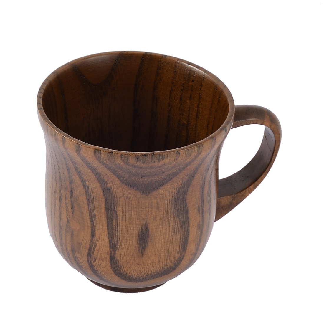 Home Restaurant Wooden Primitive Natural Hand Shank Water Coffee Cup Brown