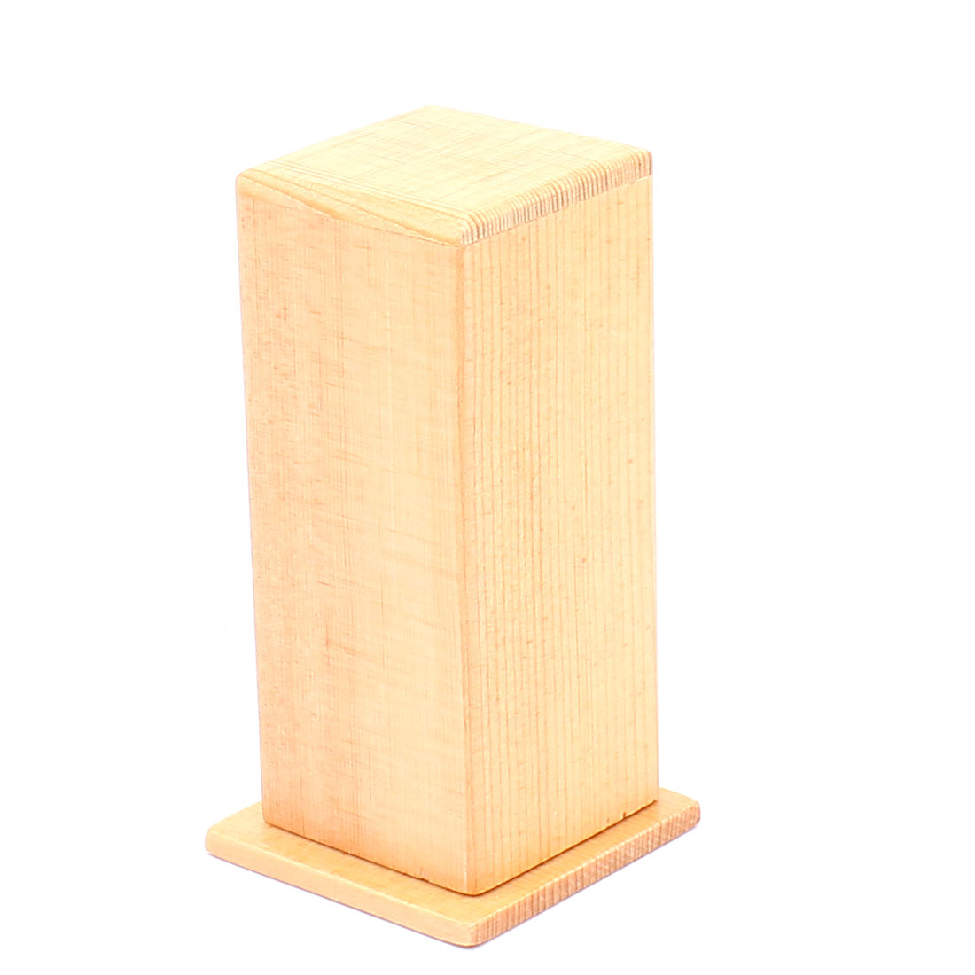 Household Crafting Square Shape Wooden Toothpick Box Case Holder Wood Color