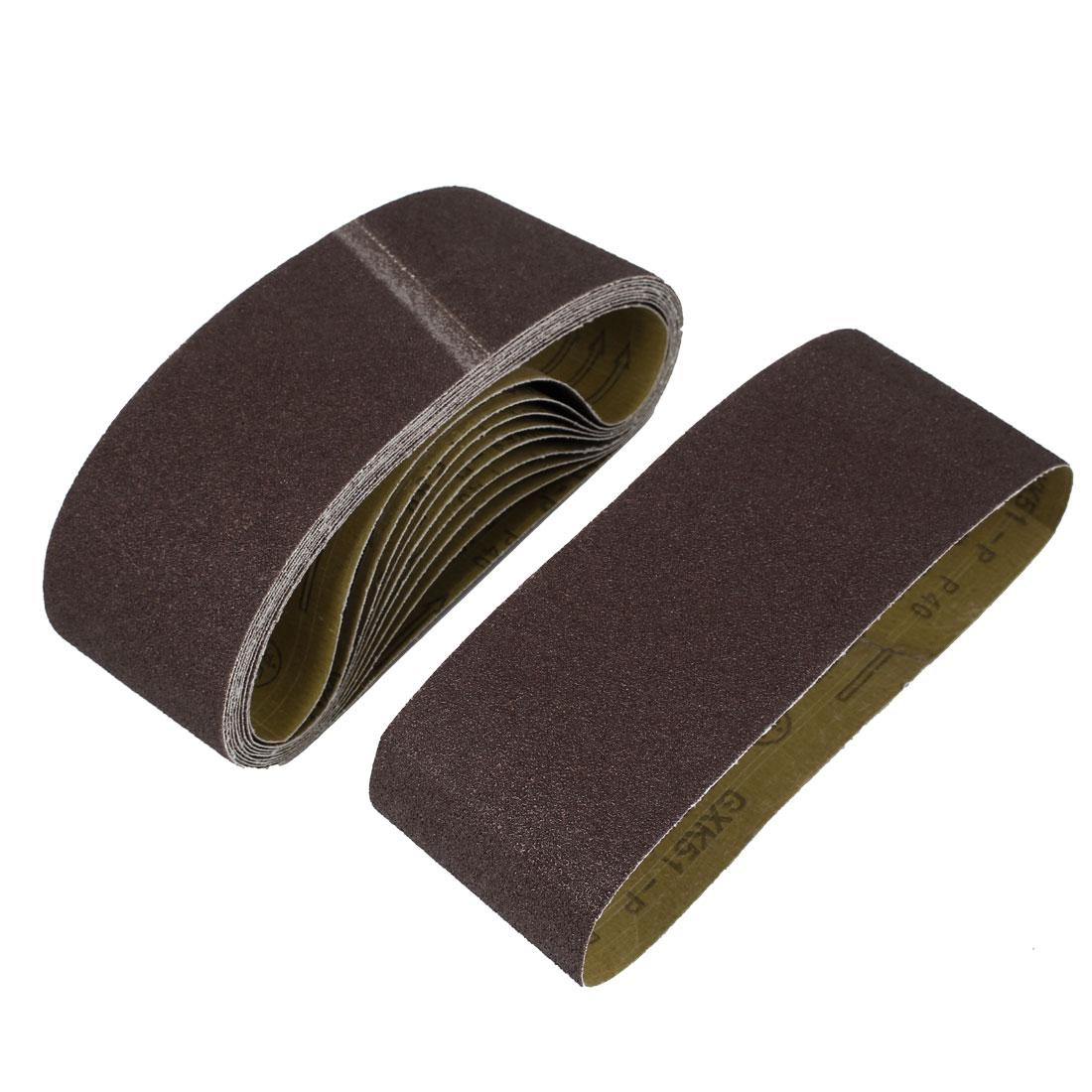 Polishing Machine Woodworking 610x100mm 40 Grit Sanding Abrasive Belt 10pcs
