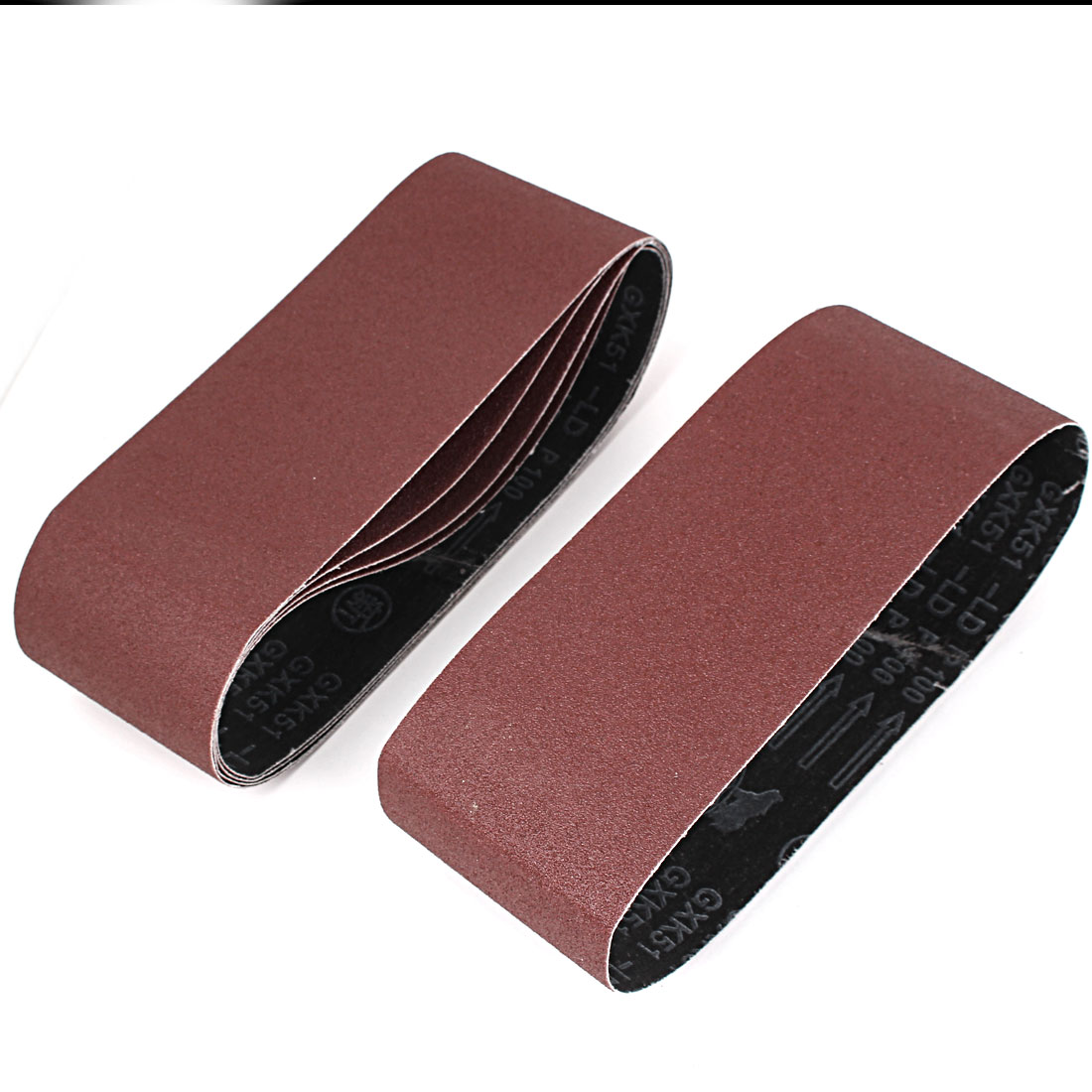 Sander Polishing Machine 610x93mm 100 Grit Brushed Abrasive Sanding Belt Sandpaper 5pcs