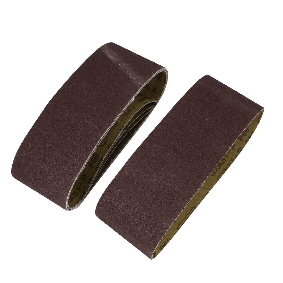 Sander Polishing Machine 610x100mm 60 Grit Brushed Abrasive Sanding Belt Sandpaper 5pcs