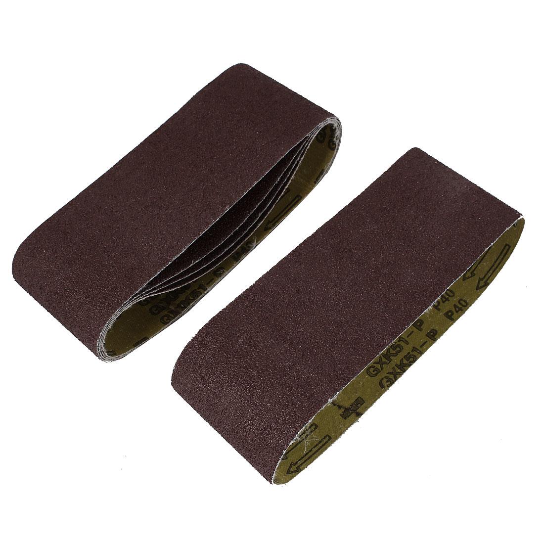 Sander Polishing Machine 610x100mm 40 Grit Brushed Abrasive Sanding Belt Sandpaper 5pcs