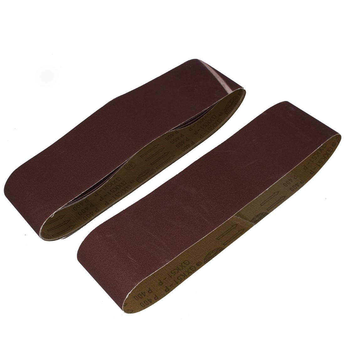 Woodworking 915mmx100mm 400 Grit Abrasive Sanding Belt Sandpaper 5pcs