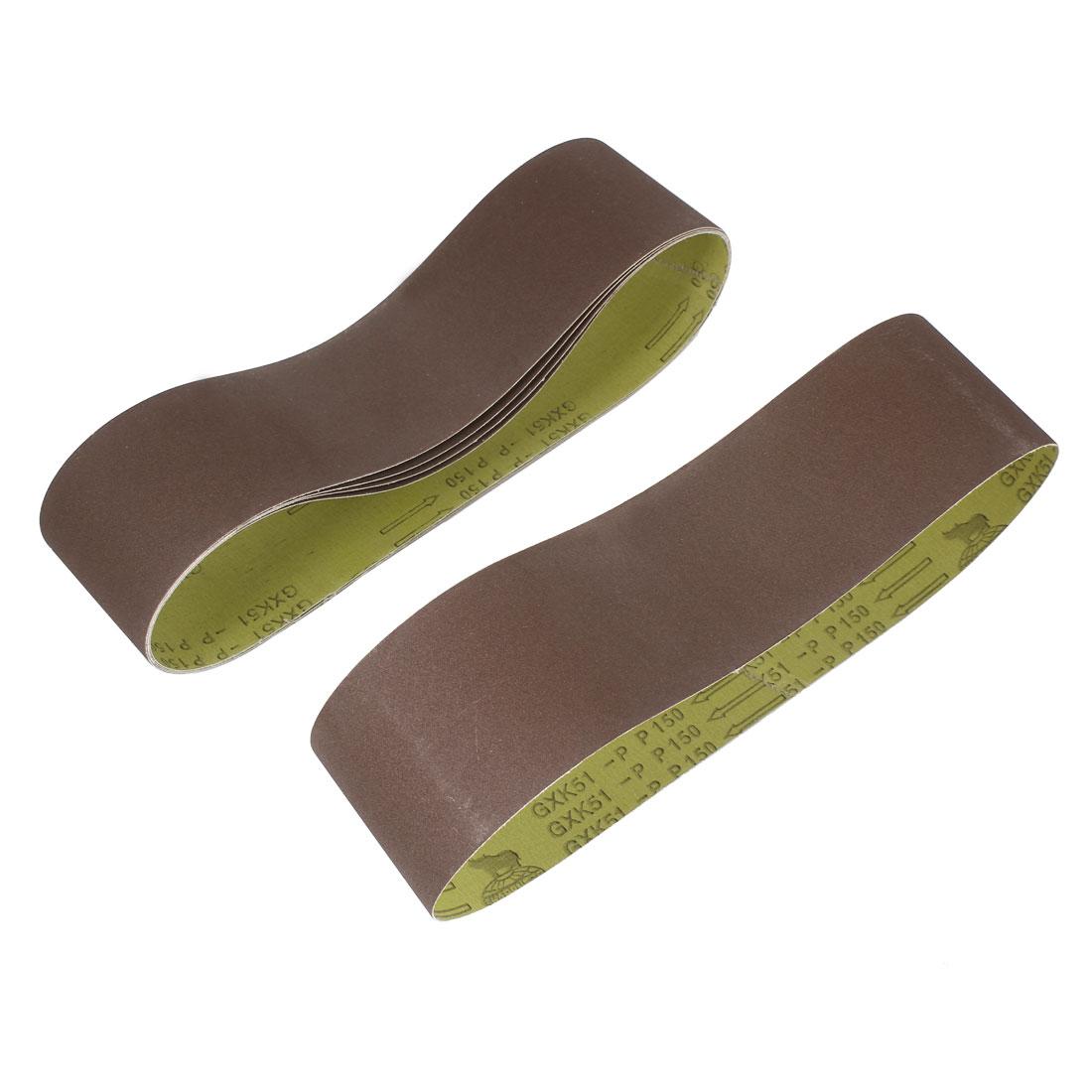 Woodworking 915mmx100mm 150 Grit Abrasive Sanding Belt Sandpaper 5pcs