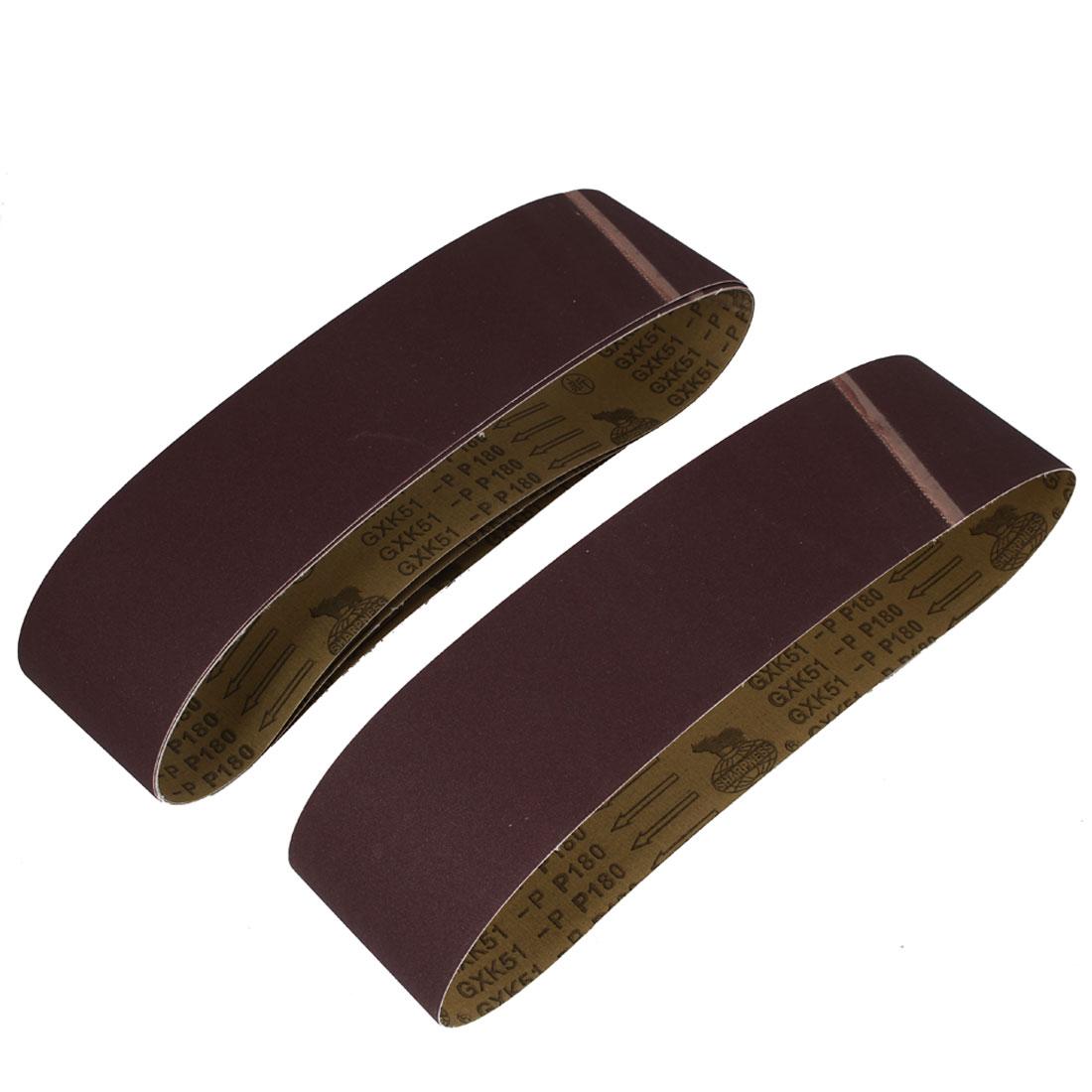 Woodworking 915mmx100mm 180 Grit Abrasive Sanding Belt Sandpaper 5pcs