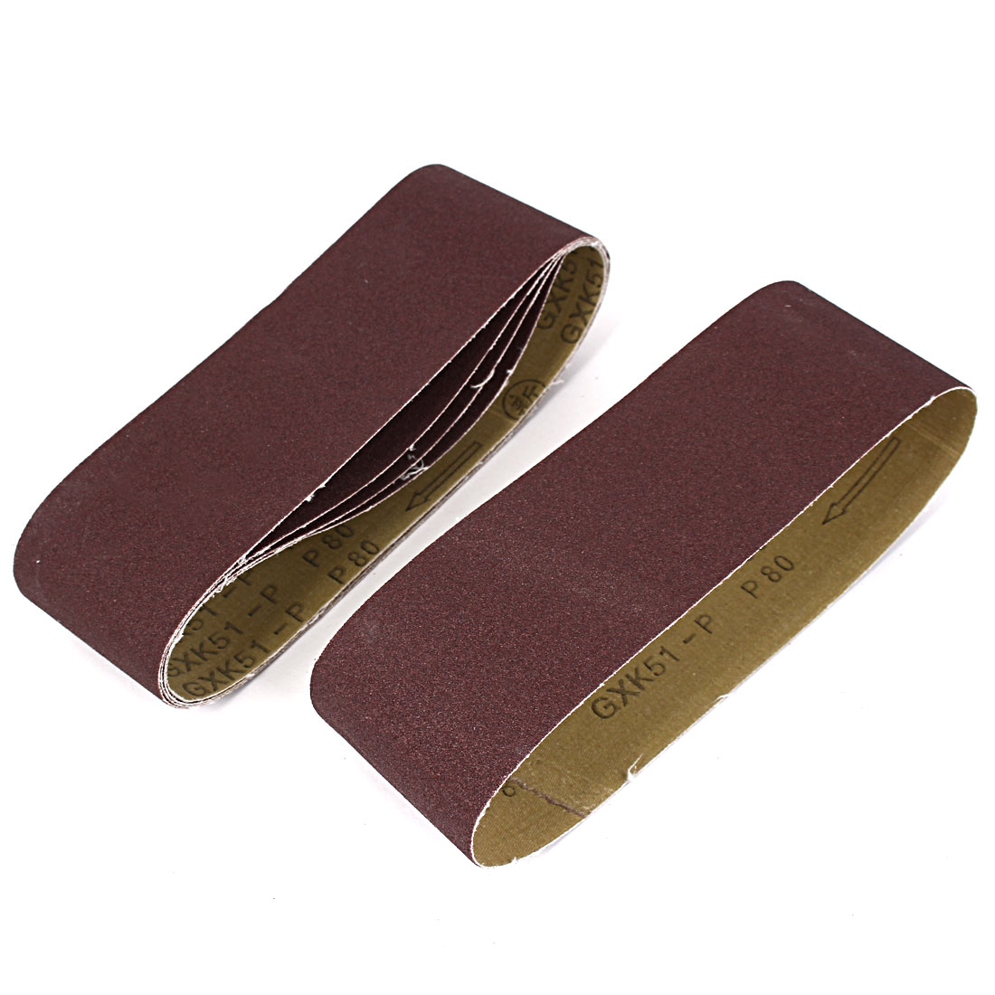 Woodworking 533mmx75mm 80 Grit Abrasive Sanding Belt Sandpaper 5pcs