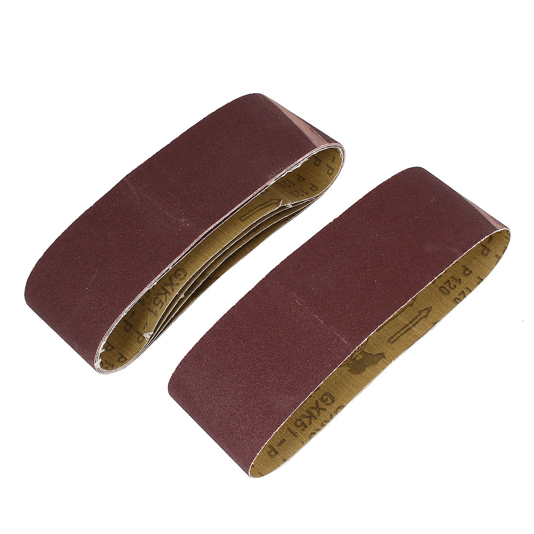 Woodworking 533mmx75mm 120 Grit Abrasive Sanding Belt Sandpaper 5pcs