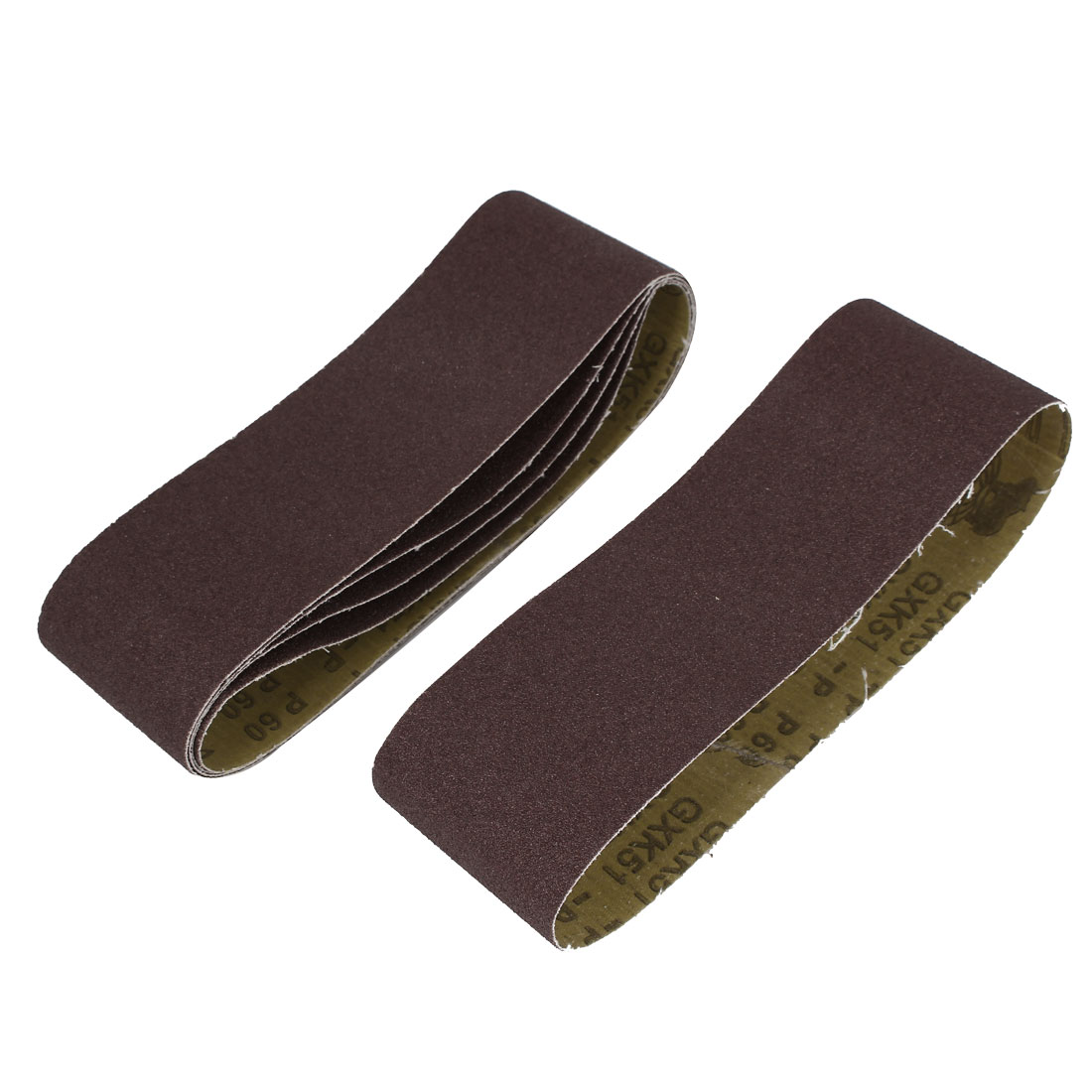 Woodworking 533mmx75mm 60 Grit Abrasive Sanding Belt Sandpaper 5pcs