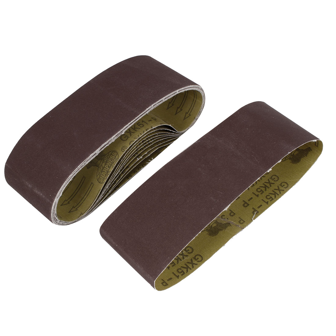 Woodworking 533mmx75mm 320 Grit Abrasive Sanding Belt Sandpaper 10pcs