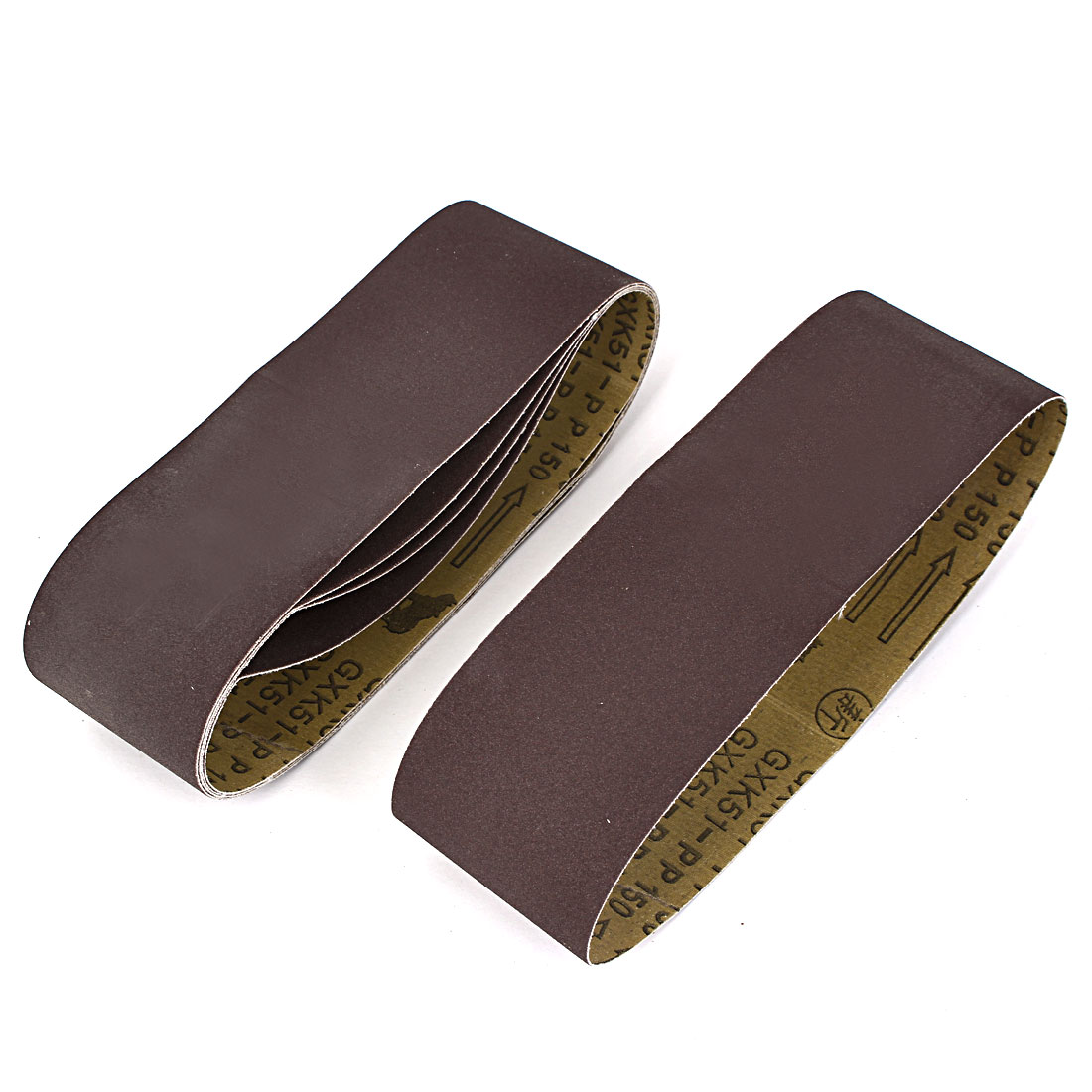 Woodworking 533mmx75mm 150 Grit Abrasive Sanding Belt Sandpaper 5pcs