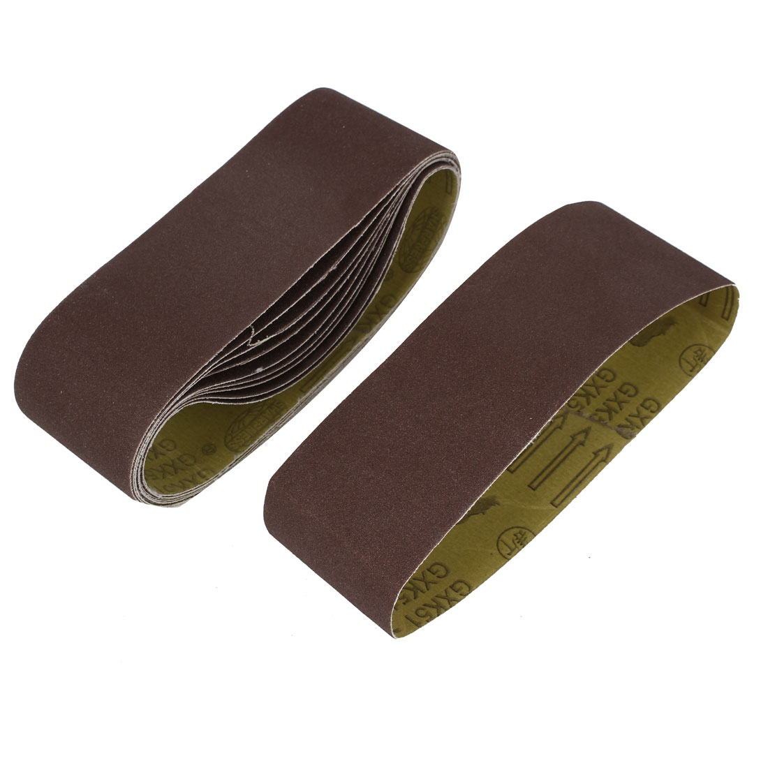 Woodworking 533mmx75mm 100 Grit Abrasive Sanding Belt Sandpaper 10pcs