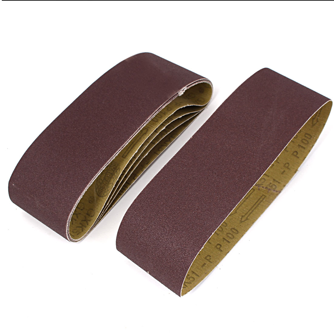 Woodworking 533mmx75mm 100 Grit Abrasive Sanding Belt Sandpaper 5pcs