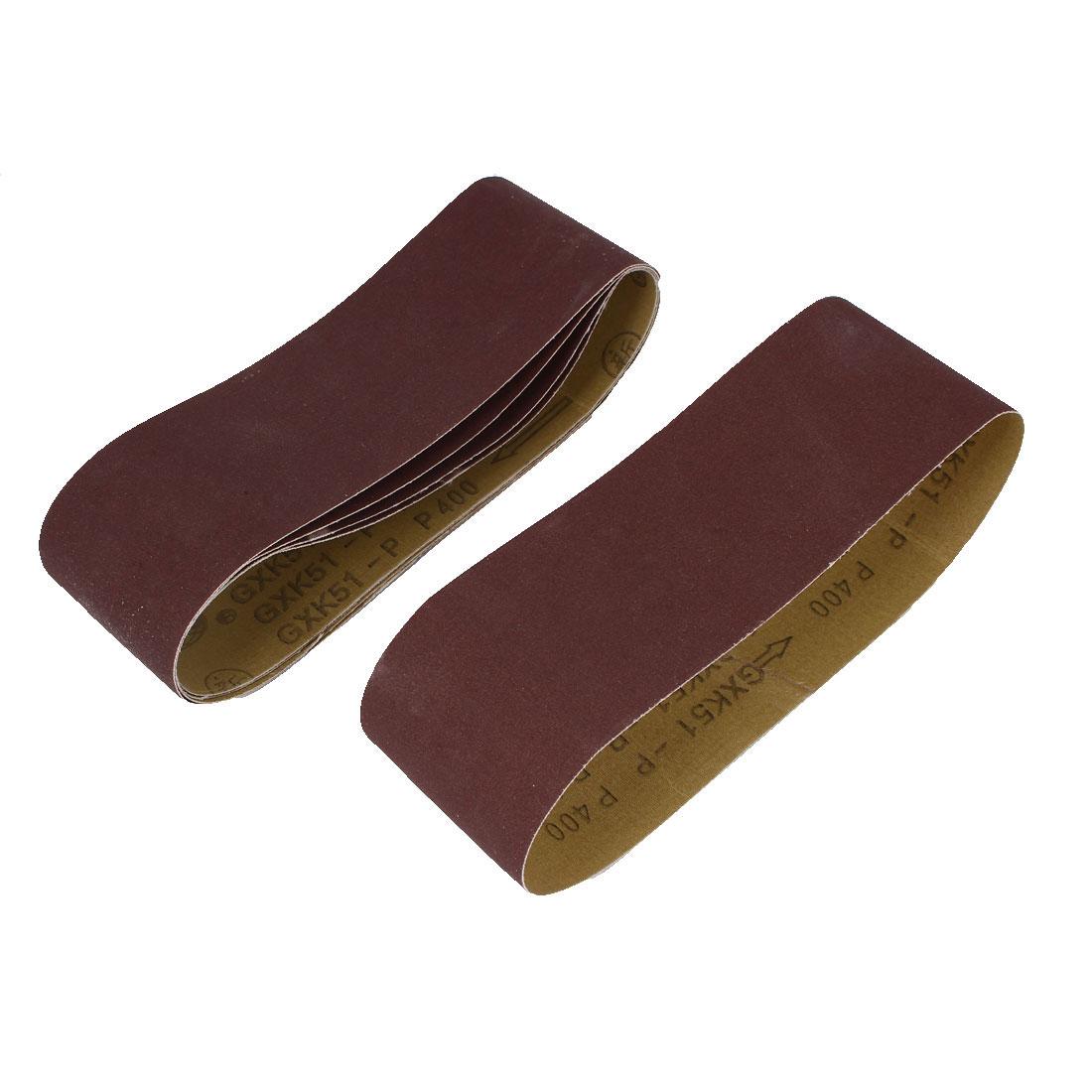 Woodworking 533mmx75mm 400 Grit Abrasive Sanding Belt Sandpaper 5pcs
